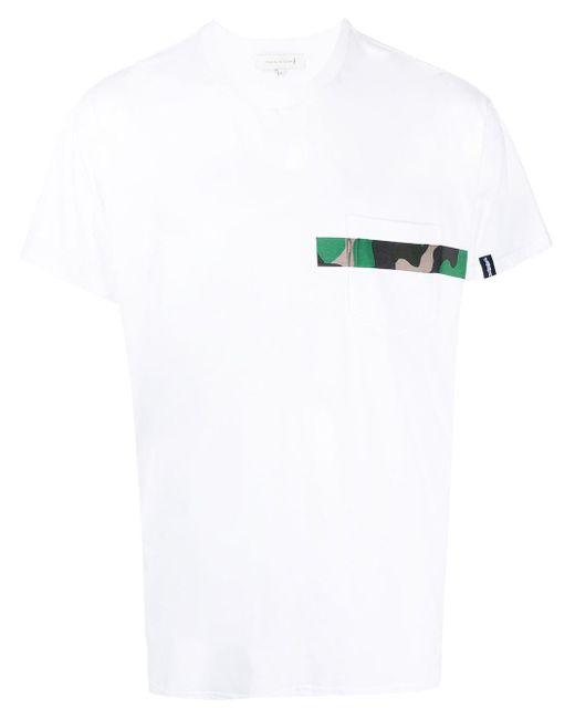 メンズ Mackintosh カモフラージュ ストライプ Tシャツ White