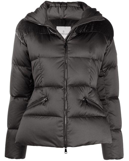 Moncler フーデッド パデッドジャケット Gray