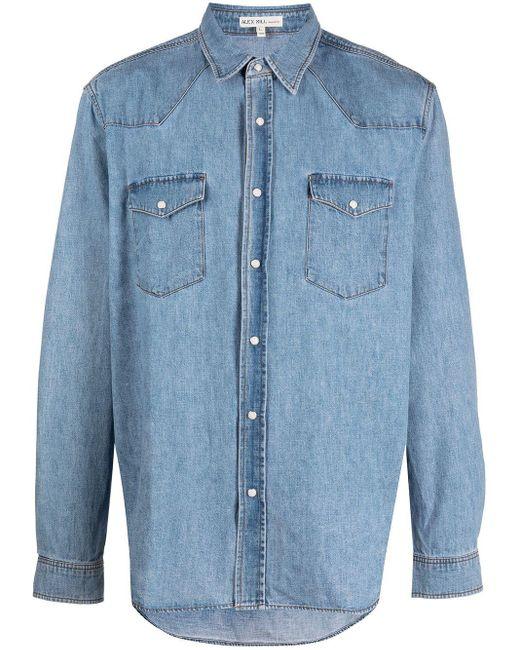 Camicia Western denim di Alex Mill in Blue da Uomo