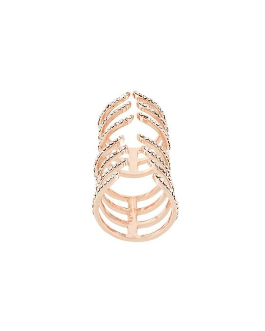 FEDERICA TOSI Metallic 'hook' Ring