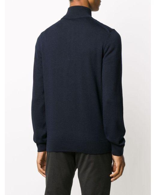 メンズ BOSS by Hugo Boss ウール セーター Blue