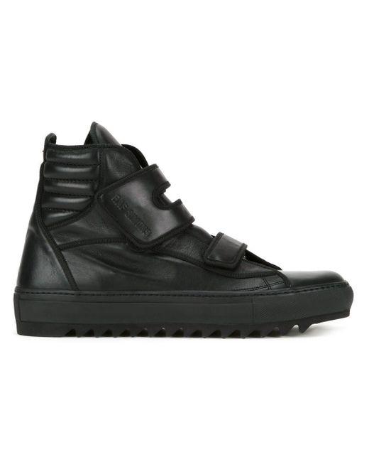 Zapatillas altas con velcro Raf Simons de hombre de color Black