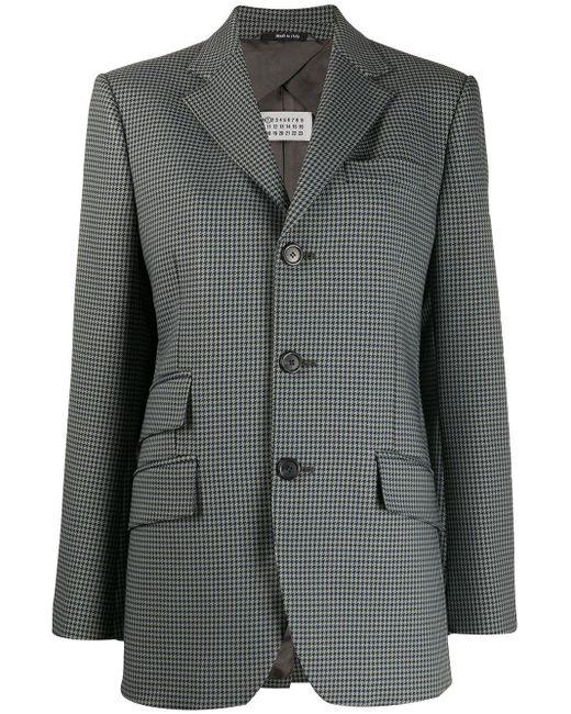 Maison Margiela チェック シングルジャケット Gray