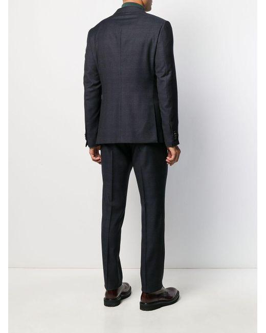 メンズ Z Zegna スリムフィット ツーピース スーツ Blue