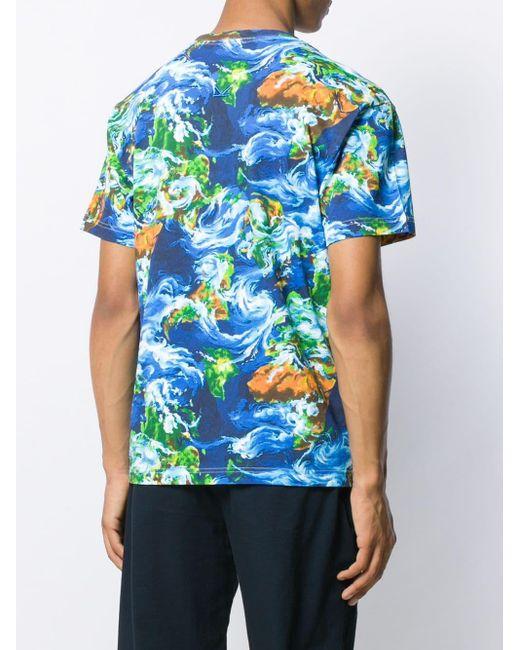 メンズ KENZO World コットンtシャツ Blue