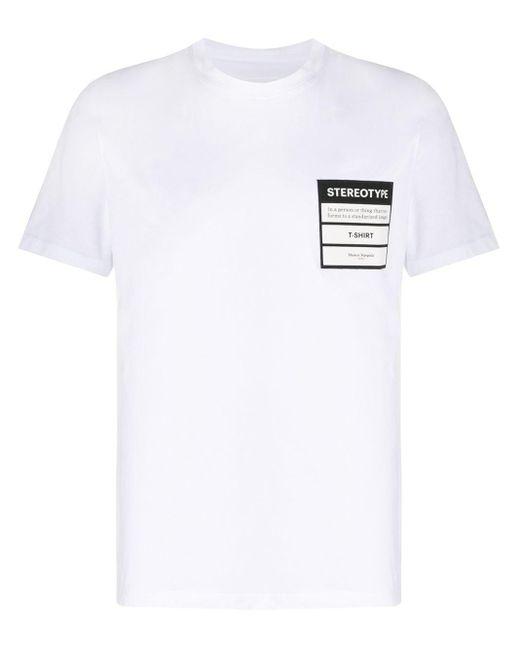 メンズ Maison Margiela Stereotype パッチ Tシャツ White