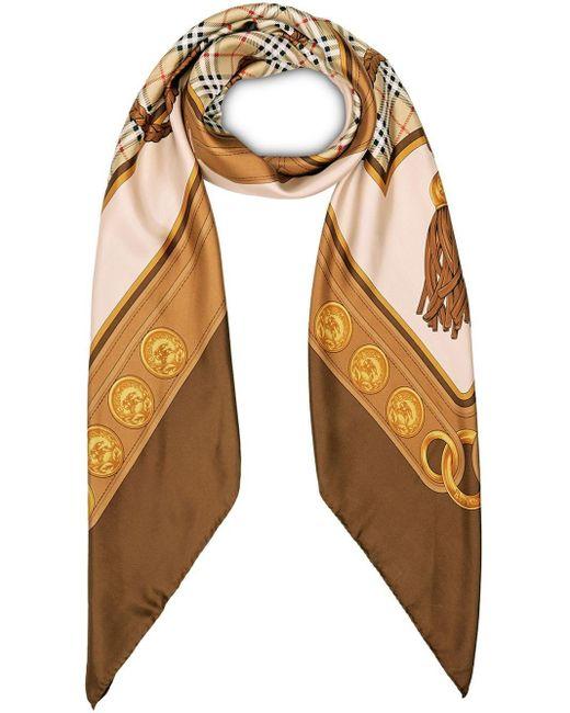 Burberry タッセルプリント スカーフ Multicolor