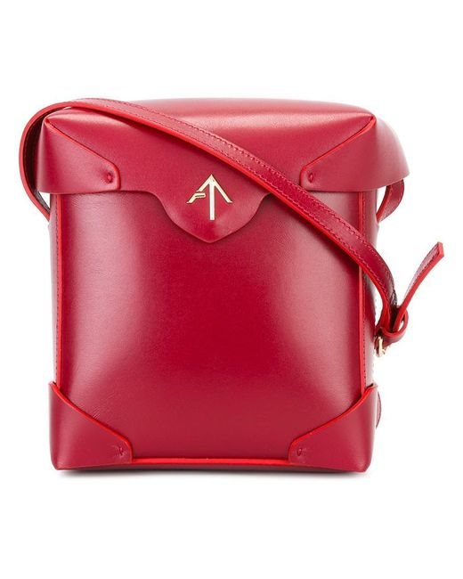 MANU Atelier - Red Fold-over Closure Crossbody Bag - Lyst