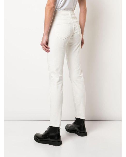 R13 スキニージーンズ White