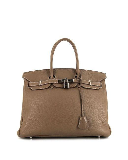 Сумка-тоут Birkin 35 2007-го Года Hermès, цвет: Brown
