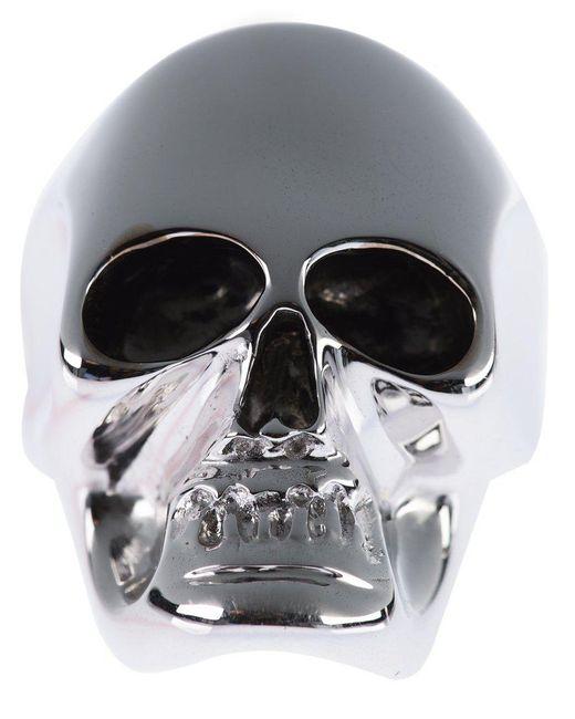 Gavello - Metallic Gold Skull Ring for Men - Lyst