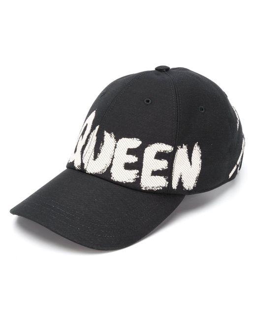 Бейсболка С Логотипом Alexander McQueen для него, цвет: Black