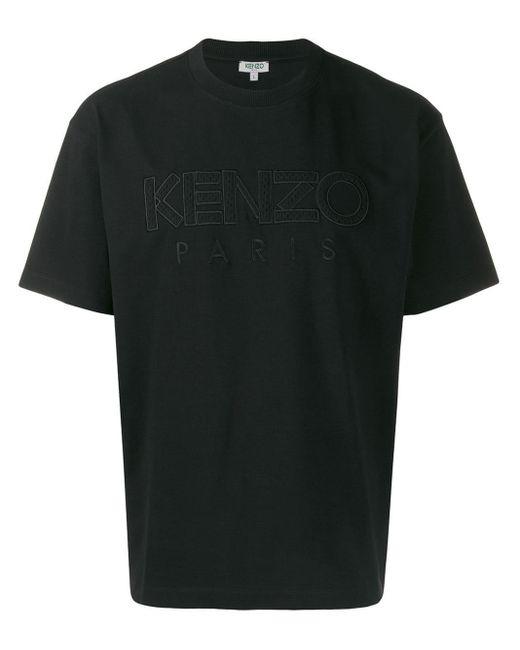 メンズ KENZO ロゴ Tシャツ Black