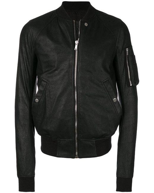Rick Owens - Black Flight Bomber Jacket for Men - Lyst