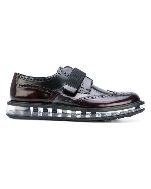 Prada | Black Air Sole Derby Shoes for Men | Lyst