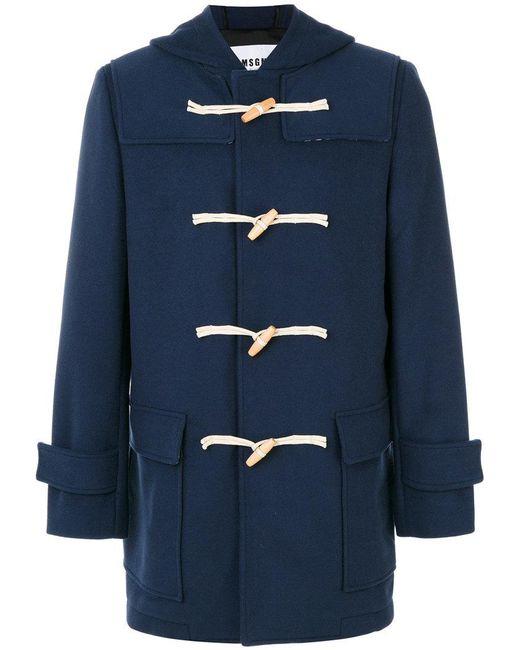 MSGM | Blue Classic Duffle Coat for Men | Lyst