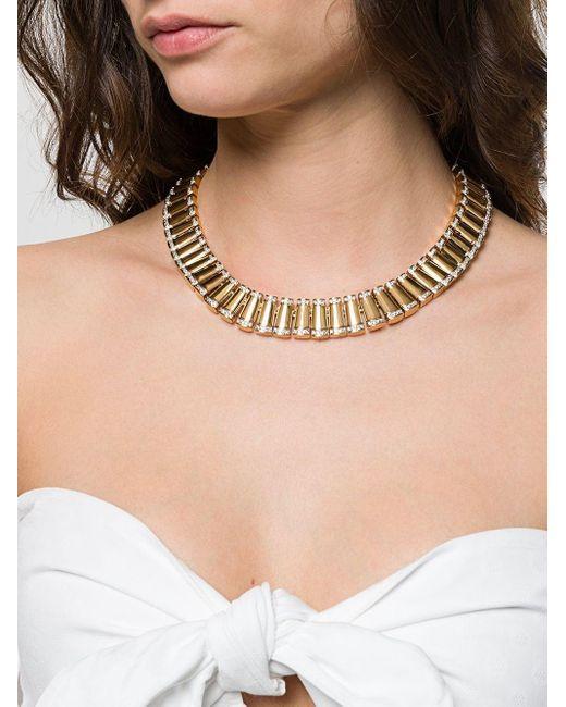 Susan Caplan スワロフスキー ネックレス Metallic