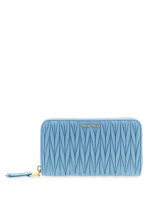 Miu Miu フラップ財布 Blue