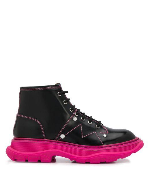 Ботинки Tread На Шнуровке Alexander McQueen, цвет: Black