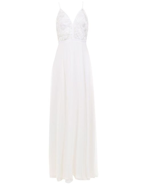 Vestido de fiesta largo Tufi Duek de color White