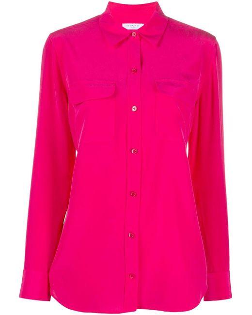 Equipment Camisa ajustada de mujer de color rosa rLBhF