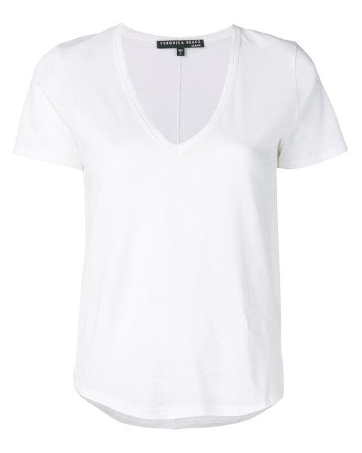 Veronica Beard Vネック Tシャツ White