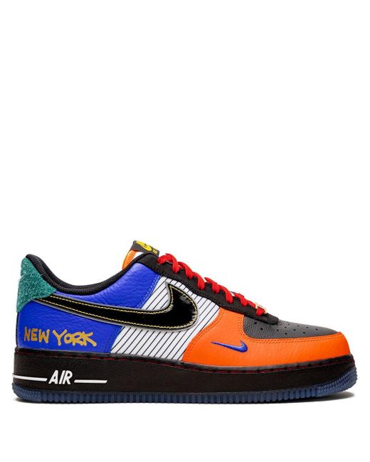 Nike Black Air Force 1 Low 07 'what The Ny' Sneakers