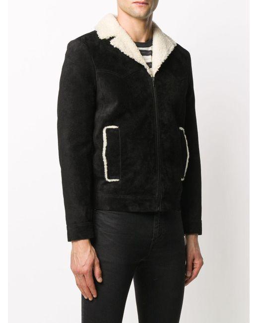 Куртка На Молнии С Подкладкой Saint Laurent для него, цвет: Black
