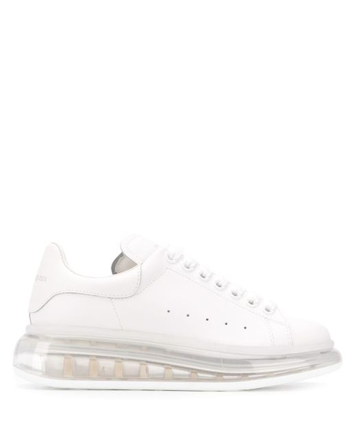 Zapatillas oversize de cuero Alexander McQueen de color White