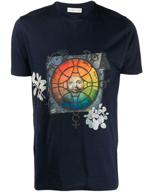 メンズ Etro グラフィック Tシャツ Blue