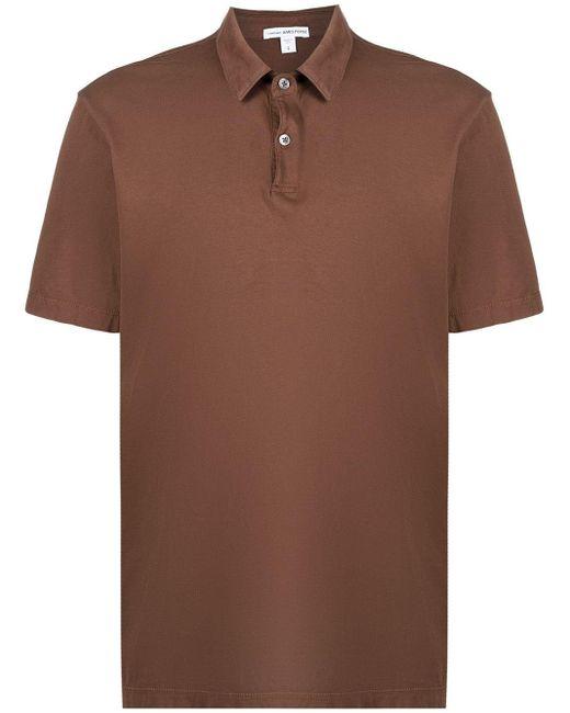 Polo à col boutonné James Perse pour homme en coloris Brown