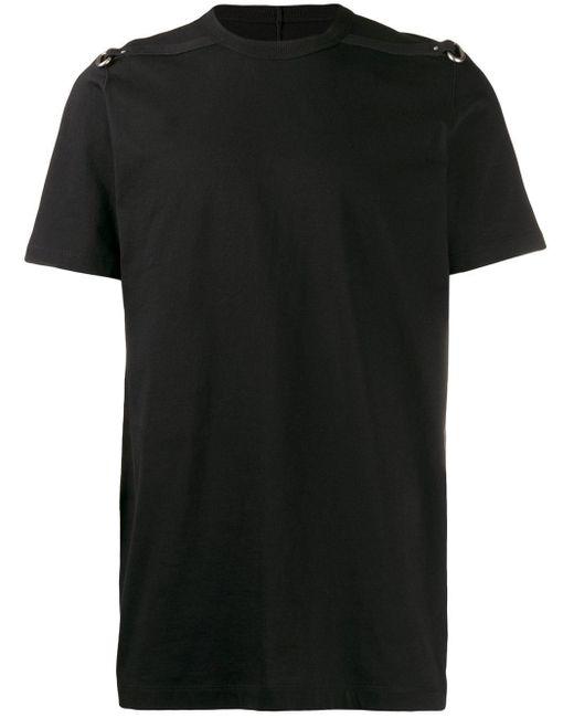 メンズ Rick Owens リングトリム Tシャツ Black