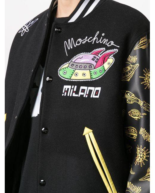 メンズ Moschino ボンバージャケット Black