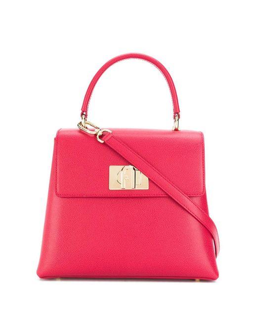 Sac à main à fermoir à loquet Furla en coloris Pink