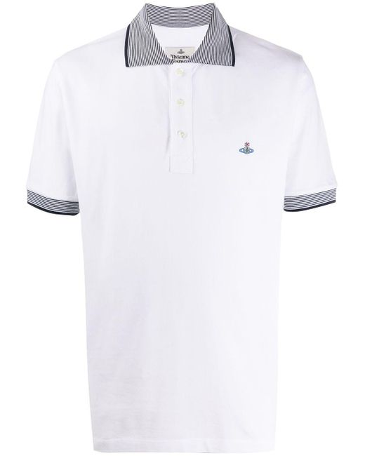 メンズ Vivienne Westwood ロゴ ポロシャツ White