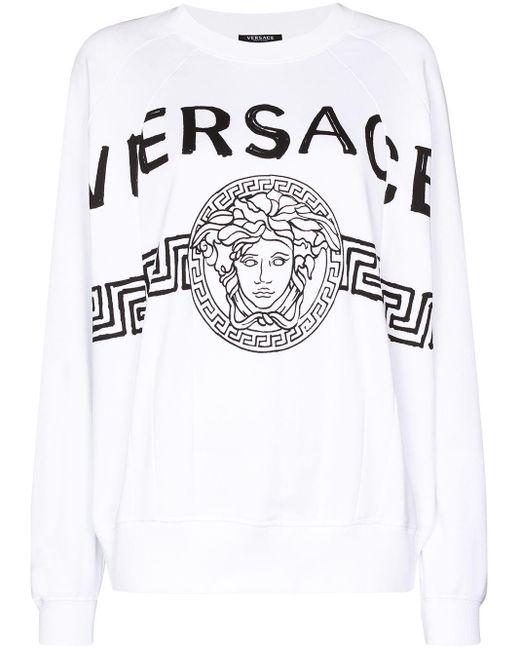 Versace メデューサ スウェットシャツ White
