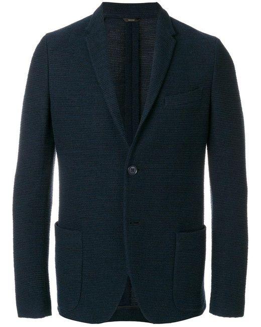 f5108c9ce23e Fendi Classic Fitted Blazer in Blue for Men - Lyst