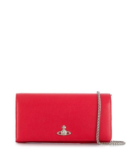 Vivienne Westwood Orb チェーンウォレット Red