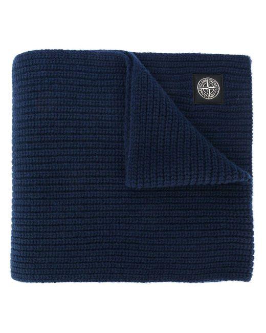 メンズ Stone Island ロゴ スカーフ Blue