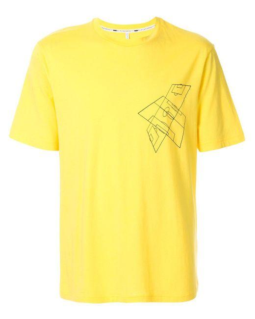 メンズ Neil Barrett グラフィック Tシャツ Yellow