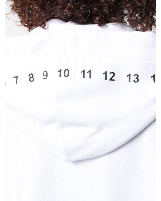 Maison Margiela ロゴ フーデッドドレス White