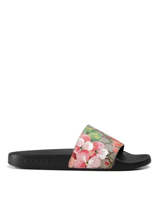 Gucci Multicolor GG Blooms Supreme Slide Sandal