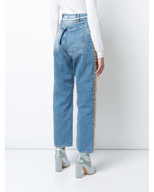 ... Off-White c/o Virgil Abloh - Blue Straight-leg Tulle Jeans -