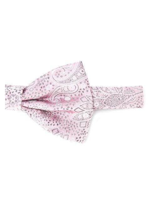 メンズ Canali ペイズリー 蝶ネクタイ Pink