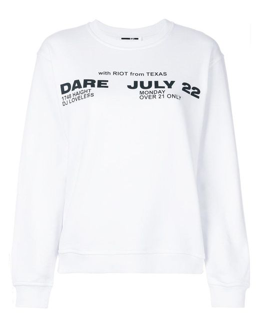 McQ Alexander McQueen - White Poison Youth Tour Date Jumper - Lyst
