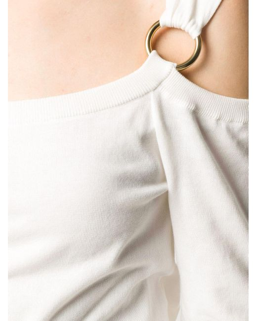Boutique Moschino オープンショルダー スウェットシャツ White
