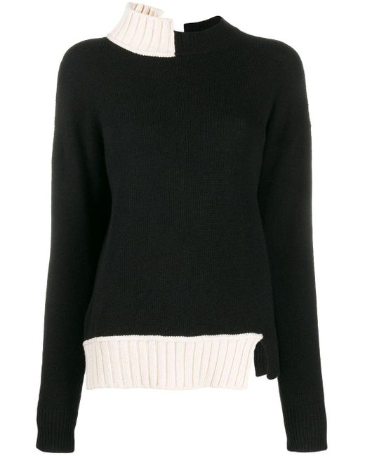 Marni バイカラー セーター Black