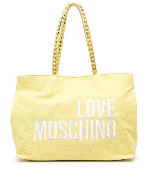 Love Moschino ロゴ ハンドバッグ Yellow
