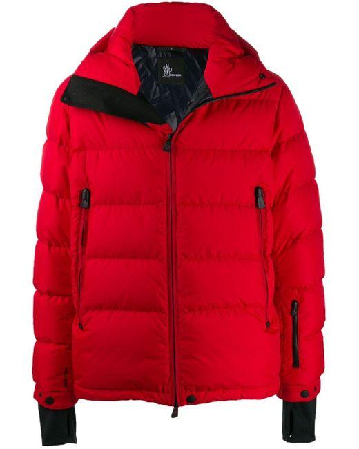 メンズ 3 MONCLER GRENOBLE ロゴ パデッドジャケット Red