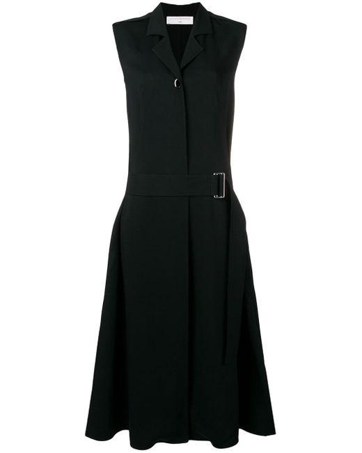 Victoria Beckham ノースリーブ ベルテッドドレス Black